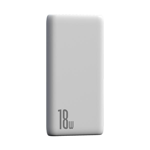 پاور بانک باسئوس Baseus Bipow Quick Charge Power Bank PD+QC 10000mAh 18W White