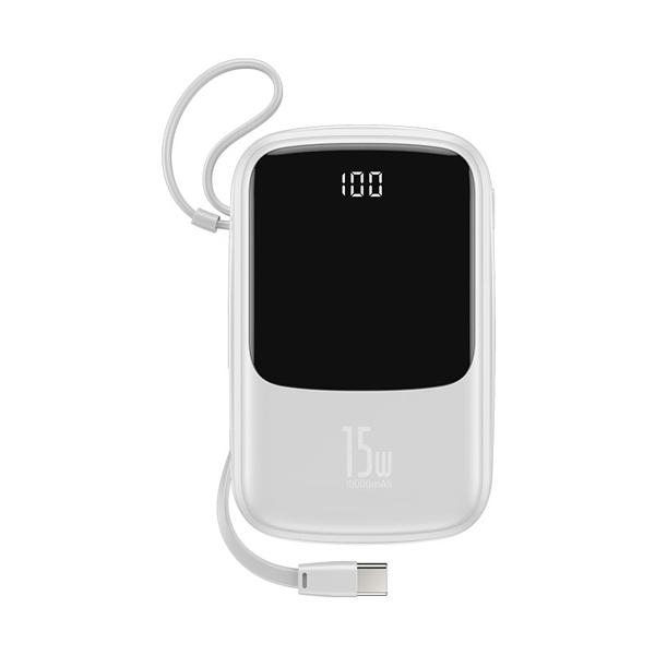 پاور بانک باسئوس Baseus Mini S Bracket 10W Wireless Charger Power bank 10000mAh 18W White