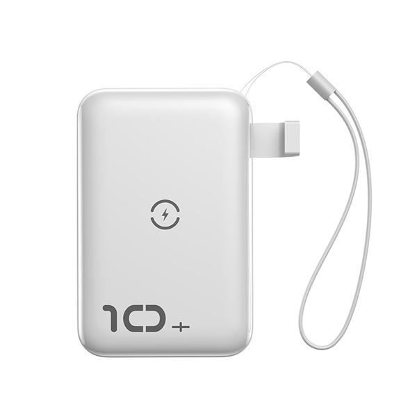 پاور بانک بی سیم باسئوس Baseus Mini S Bracket 10W Wireless Charger Power bank 10000mAh 18W White