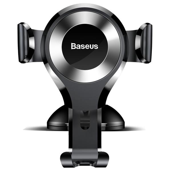 پایه موبایل مخصوص ماشین باسئوس Baseus Osculum Type Gravity Car Mount Black+silver