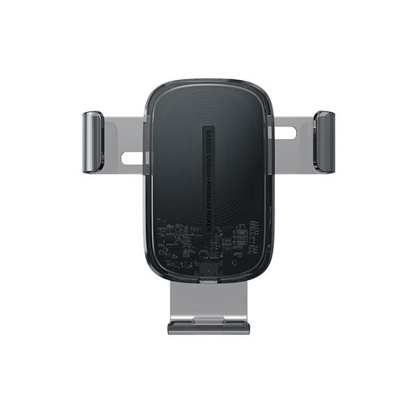 پایه موبایل همراه با شارژر وایرلس  مخصوص ماشین باسئوس Baseus Explore Wireless Charger Gravity Car Mount(15W)Black