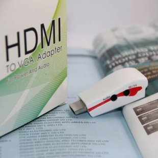 HDMI Male to VGA Female Adapter with Audio and Power Supply