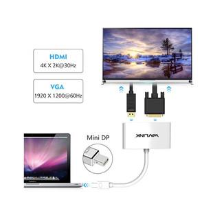 Wavlink WL-MDHV4 Mini DisplayPort to HDMI & VGA Converter 243