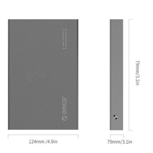 Orico 2518S3 2.5 inch USB 3.0 External HDD Enclosure.