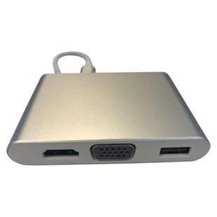 مبدل TYPE-C به USB/LAN/VGA/HDMI مدل MN