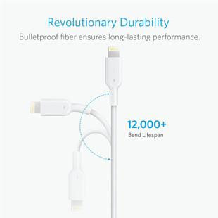 کابل تبدیل USB به لایتنینگ انکر مدل A8433 طول 1.8 متر