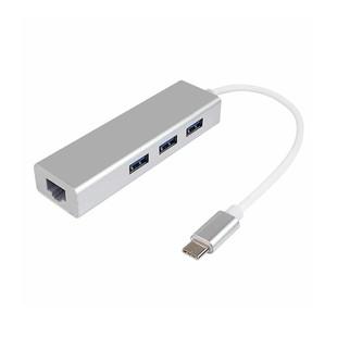 تبدیل Type-c به هاب 3 پورت USB3.0 و اترنت