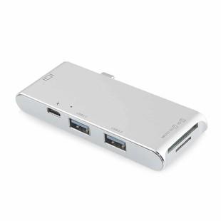 تبدیل Type-c و رم ریدر SD/microSD به هاب 2 پورت 0.USB 3 و HDMI