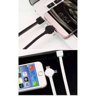 کابل تبديل USB به microUSB/USB-C/لايتنينگ ريمکس مدل LESU RC-066
