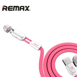 کابل تبديل USB به microUSB و لايتنينگ ريمکس مدل Gemini RC-025t