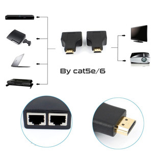 تبدیل افزایش HDMI تحت شبکه 30متری