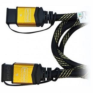 کابل HDMI فرانت 3D سرپوش طلایی 5 متری - به فی