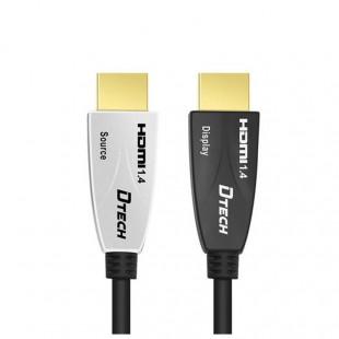 خرید کابل لینک HDMI روی فیبر دیتک مدل DT-HF558 طول 30 متر