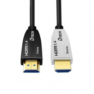 مشخصات کابل لینک HDMI روی فیبر دیتک مدل DT-HF558 طول 30 متر