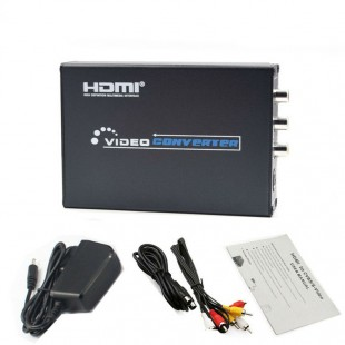 HDMI to AV S-video Video Converter Box 1080P video RCA Switcher Adaptor