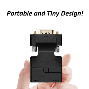 VGA to HDMI Adapter Converter with Audio