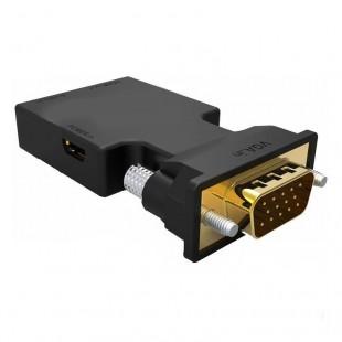 تبدیل VGA و صدا به HDMI با کابل صدا و پاور به طول 20 سانتی متر