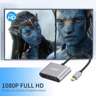 مشخصات تبدیل MiniDisplay به HDMI و VGA مدل OTN-5131B
