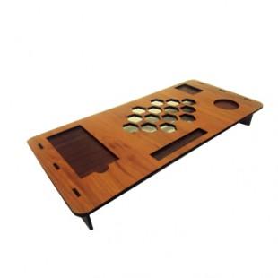 زیر مانیتور چوبی مناسب برای مانیتور و لپ تاپ