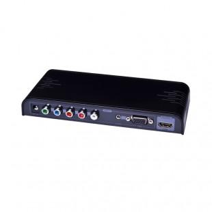 مبدل VGA+YPbPr به HDMI لنکنگ مدل LKV351PRO همراه با پنل کنترلی OSD