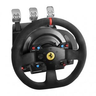 دسته فرمان و پدال بازی تراست مستر مدل T300 Ferrari برای PC و پلی استیشن