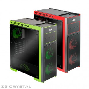 Green Z3 Crystal Computer Case