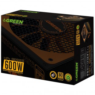 منبع تغذیه نیمه ماژولار گرین مدل 600b-hp Plus