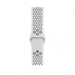 اپل واچ نایک پلاس سری 5 سلولار با بدنه آلومینیوم نقره ای و بند نایک پلاتینیوم / مشکی 40 میلی متری