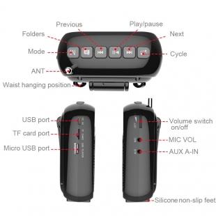 آمپلی فایر بی سیم قابل حمل Knorvay مدل S328 به همراه میکروفن