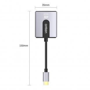 تبدیل type-C به HDMI اونتن مدل OTN-91185 با کیفیت Ultra 4K