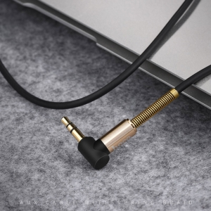 """کابل aux فنری هوکو Cable 3.5mm to 3.5mm """"UPA02"""" audio AUX"""