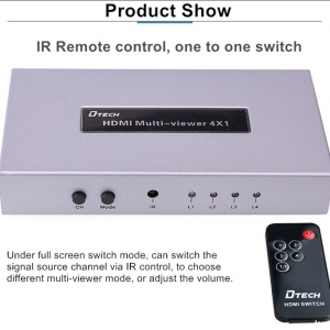 سوئیچ چند منظوره HDMI دیتک 1*4 DTECH DT-7056A HDMI 4X1 Quad Multi-Viewer Switcher