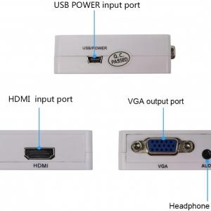 تبدیل  HDMI To VGA پاور دار
