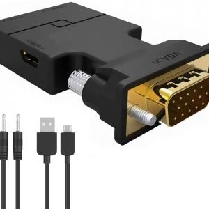 تبدیل کانکتور  VGA به HDMI با صدا و پاور