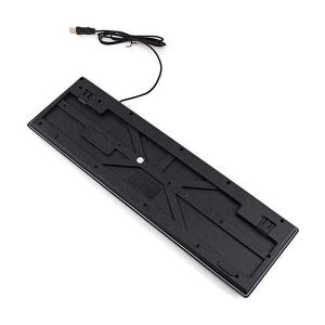 کیبورد گیمینگ ارگونمیک بک لایت مدل R-6300 USB Wired Keyboard Gaming