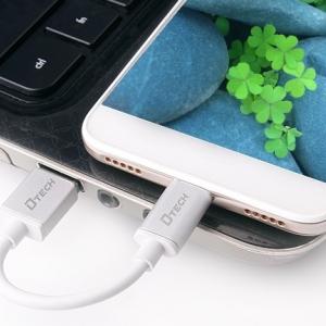 کابل تبدیل USB به Micro-USB دیتک مدل Dtech DT-T0013 با طول 0.1 متر