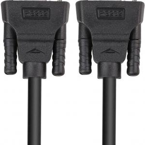 کابل سریال RS232 دیتک مدل dt-9005c DTECH 1.5 ft Straight Through Serial DB9 Cable Female to Female 9 Pin