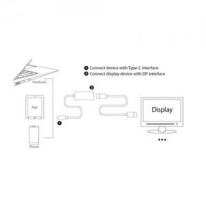 تبدیل type c به  displayport اونتن مدل Onten Type C to Displayport  OTN-9528