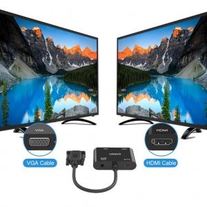 تبدیل vga به hdmi و vga پاوردار اونتن مدل Onten OTN-5138HV VGA to FHD HDMI + VGA