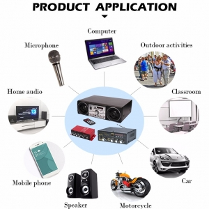 آمپلی فایر 4 کاناله کینتر مدل 4channel 12v car audio amplifier with USB/SD/FM kinter MA-200