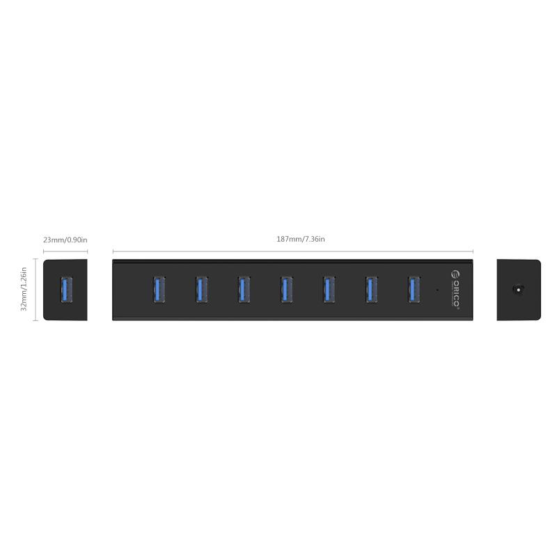 هاب USB 3.0 هفت پورت اوریکو مدل H7013-U3