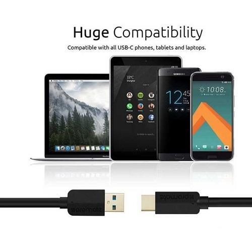 کابل تبدیل Type-C به USB3 پرومیت مدل uniLink-CA به طول 1 متر