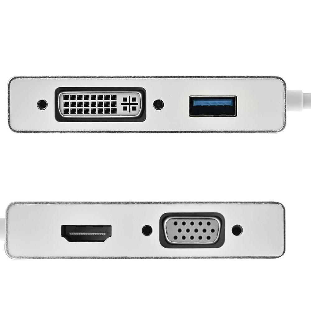 مبدل Type c به VGA/DVI/HDMI/USB با کیفیت 4K