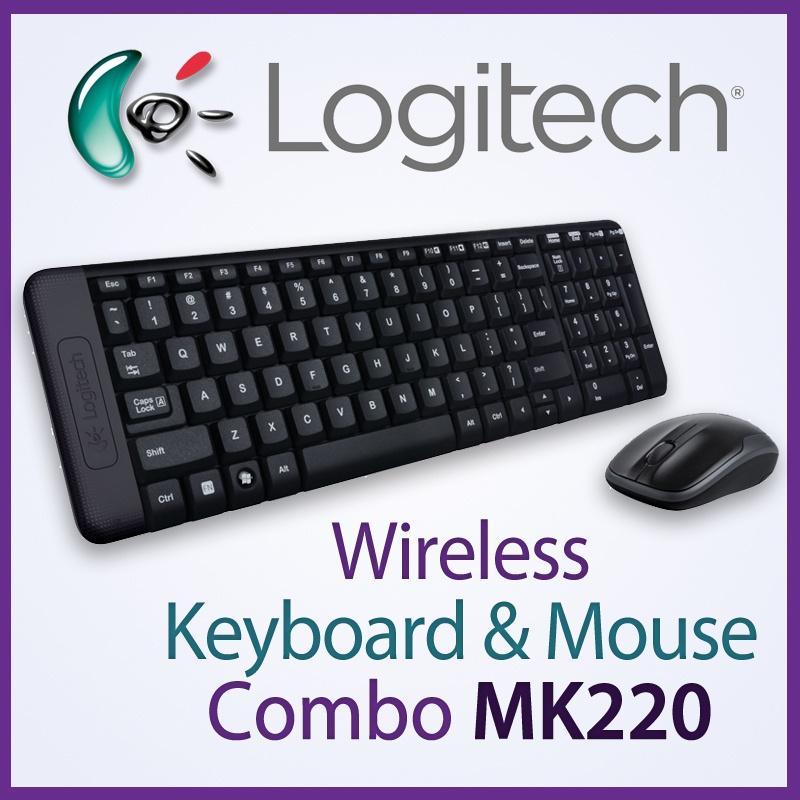 کیبورد و ماوس بیسیم لاجیتک MK220