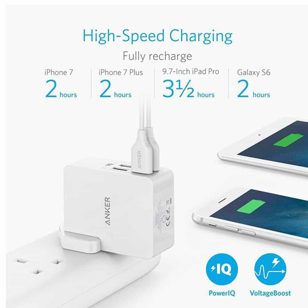 Wall Charger Anker A2042 4 Port USB
