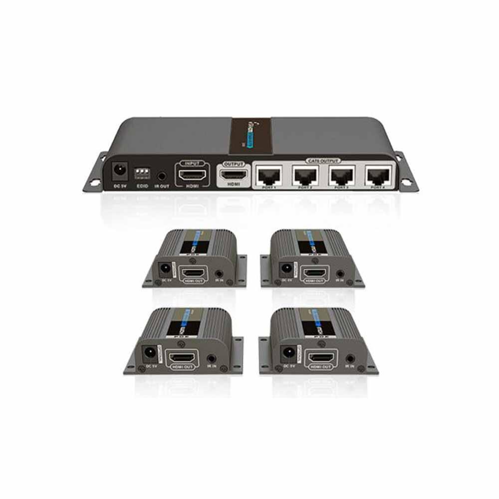 اکستندر و اسپلیتر 1 به 4 HDMI لنکنگ مدل LKV714PRO