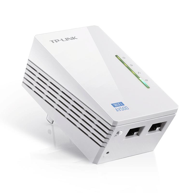 TP-LINK TL-WPA4220KIT 300Mbps AV500 WiFi Powerline Extender Starter Kit - کیت آداپتور پاورلاین تی پی-لینک مدل TL-WPA4220KIT