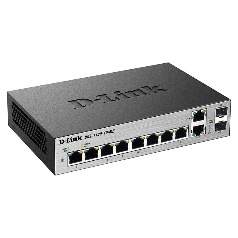 D-Link DGS-1100-10/ME-10 Port Managed L2 Metro Ethernet Switch - سوئیچ 8 پورت Managed L2 Metro دی-لینک DGS-1100-10/ME