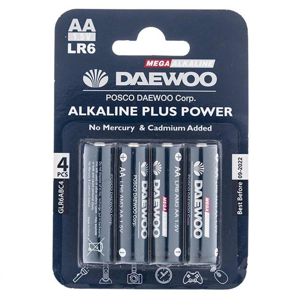 باتری قلمی دوو مدل Alkaline plus Power بسته 4 عددی