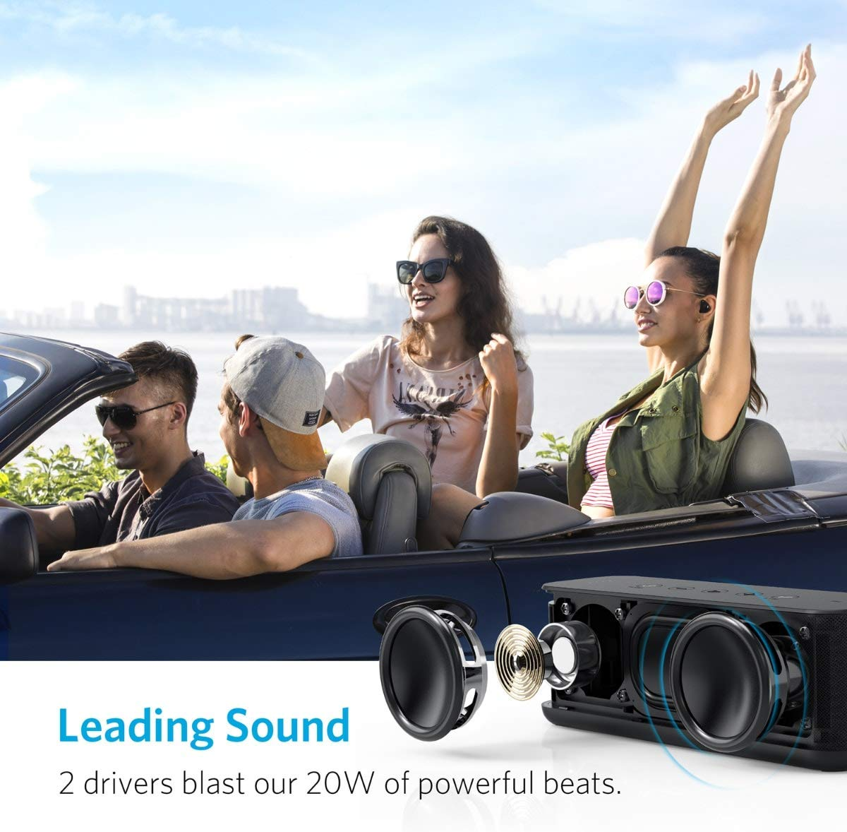اسپیکر بلوتوثی قابل حمل انکر مدل A3145 SoundCore Boost